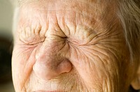 Close up of a senior woman with eyes closed (thumbnail)