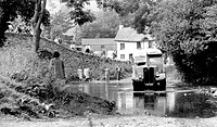 Malmsmead, the Ford, Lorna Doone's Farm c1960