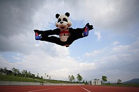 Panda Doing Jumping Splits