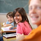 Smiling Students in Classroom