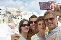 Tourists Taking Picture with Digital Camera