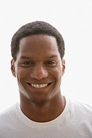 Close up of African American man smiling