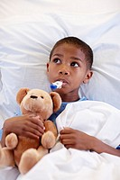 Young Boy in Hospital Bed (thumbnail)