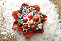 Christmas plate with sweets