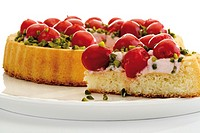 Cherry cake, close-up