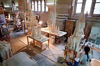 La Sagrada Familia designs  Models workshop for the La Sagrada Familia ´The Holy Family´, a Roman Catholic church being built in Barcelona, Spain  The...