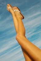 Woman's legs in the air (thumbnail)