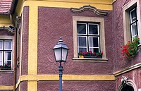 Old Building and Lamp Post, Sopron, Hungary