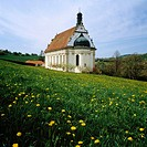 Germany, Baden-Wurtemberg, Rottenburg am Neckar, Pilgrimage Church Saint Mary in the Weggen Valley, convent church of the Franciscan monastery Weggent...