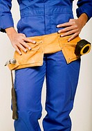 Tradeswoman in uniform