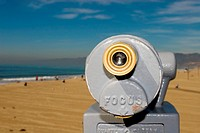 Coin operated sightseeing telescope, Santa Monica California