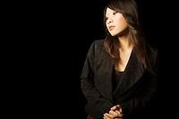 Woman posing in blazer