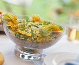 Couscous with courgette flowers