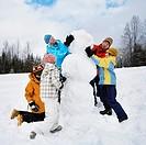 Family Building Snowman