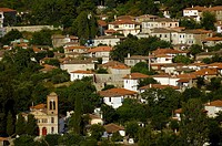 General view  Ambelakia village  Larissa Prefecture, Thessaly, Greece