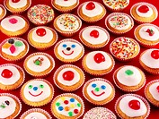 Many decorated cupcakes Not available for exclusive usages