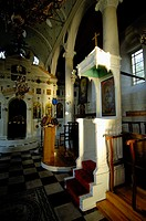 Church  Ambelakia village  interior view  Larissa Prefecture, Thessaly, Greece