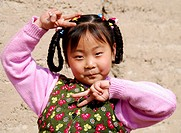 Chinese girl. Qinghai. Huzhu. China