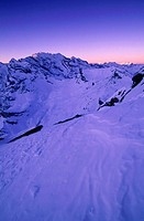 Switzerland, Europe, Gspaltenhorn, Bluemlisalp, Alps, Bernese, Walliser, view, Schilthorn, winter, Lauterbrunnental, L