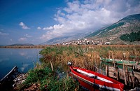 Ioannina: The Lake City Nisi islet, Lake Pamvotis, fishing boats