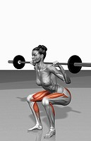 Barbell squat exercises Part 1 of 2