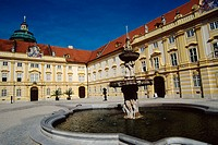 Austria, Melk, Inner Courtyard of Melk Abbey