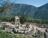 High angle view of a temple, The Tholos, Sanctuary Of Athena Pronaia, Delphi, Greece