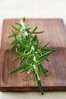 Rosemary and chopping board