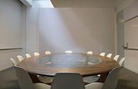 Empty boardroom