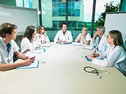 Meeting between a group of doctors