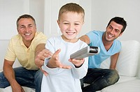 Boy using a remote control