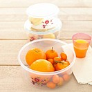 Citrus fruit in air tight container