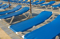 Blue deckchairs