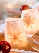 Grease proof paper table lanterns