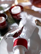 Napkin ring with bird