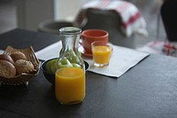 Orange Juice on table