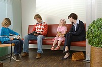 Patients sitting in a waiting room (thumbnail)