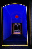 Neon Lighting in Doorway