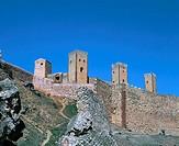 Spain. Guadalajara province. Molina de Aragon. Castle (12th - 13th century).