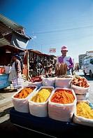 Bolivia - Cochabamba - Cancha Calatayud Market - Spice seller -