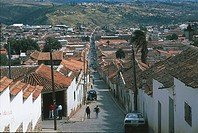 Bolivia - Sucre - Dalence Street (Calle Dalence)