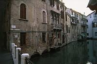 Italy - Veneto Region - Treviso - Houses along the canal