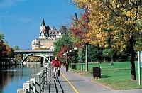 Canada - Ontario - Ottawa along Rideau Canal