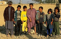 Kabul, children playing soccer