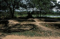 The killing fields of Choeung Ek were victims of the Pol Pot regime lie buried in mass graves