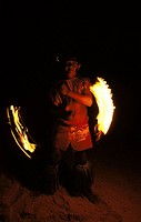 Samoa, fire dancer