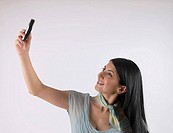 Woman with mobile phone (thumbnail)
