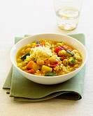 Seven-vegetable couscous, close-up