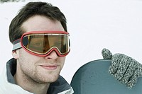 Snowboarder, portrait