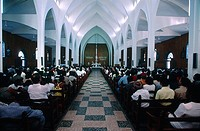 Mauritius, Port-Louis, cathedral, sunday mass